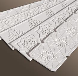 cenefas talladas en material pvc para exterior