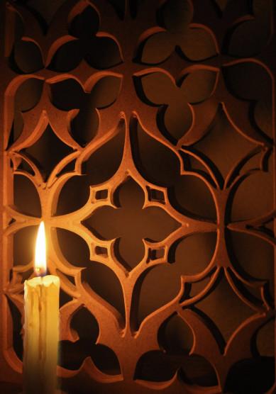 paneles separadores de ambientes con celosias decorativas