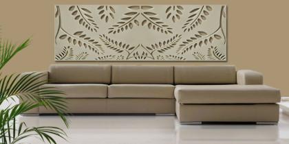 celosia decorativa moderna material madera pintada