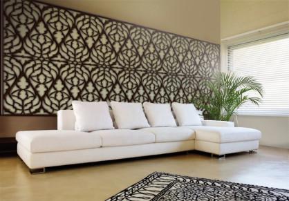 Paneles decorativos de celosías de madera
