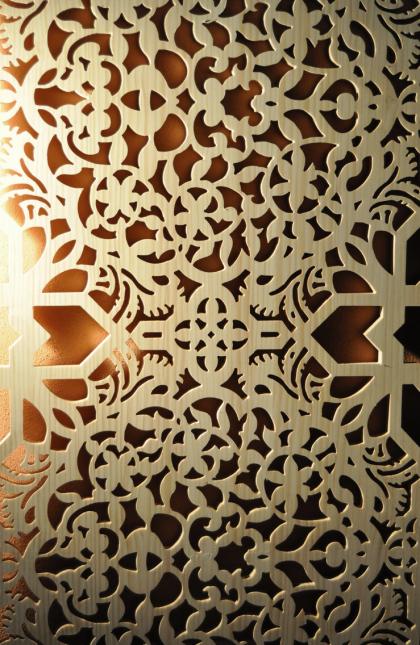 paneles celosias de madera separar ambientes