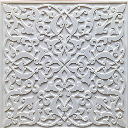 Pieza tallada arabesca fabricada en pvc