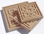 piezas talladas en madera para artesonados