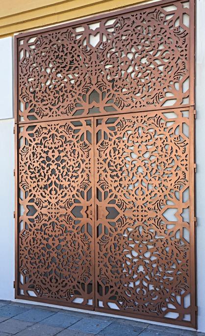 celosias decorativas para exterior en puertas