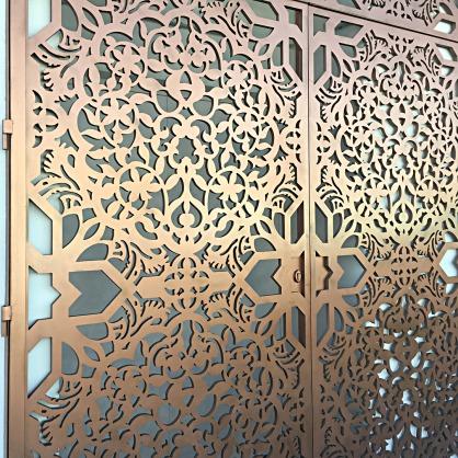 celosia decorativa metalica de aluminio para exterior