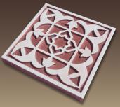 tallado arabesco fabricado en material pvc