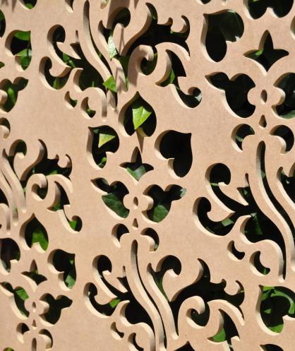 celosias de jardín, para separar ambientes en porche y terrazas fabricada con celosias de pvc