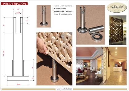Instalación separadores de ambientes con pies de acero