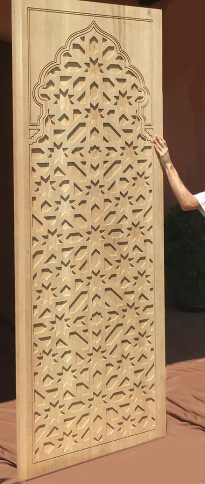 Piezas talladas madera de roble