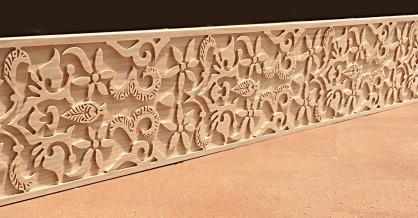 Cenefa Tallada de madera -  modelo CFN5