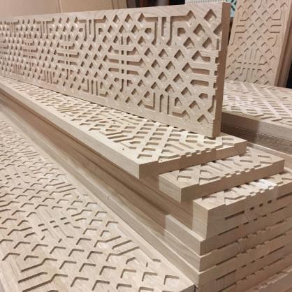 Piezas talladas en madera de roble