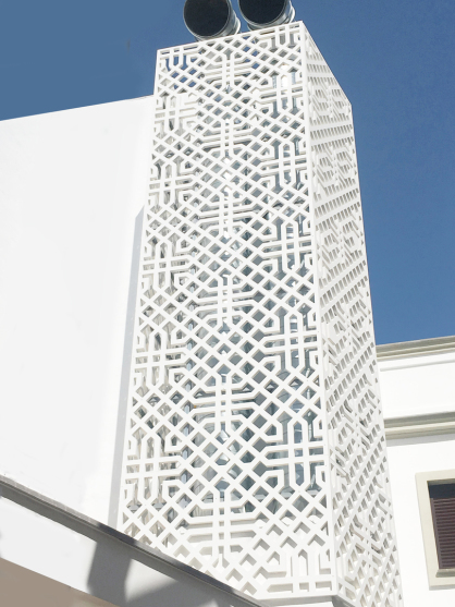 Celosias decorativas de exterior fabricadas en pvc