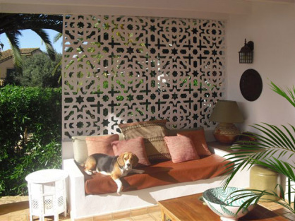 celosias decorativas de pvc para exterior en jardin