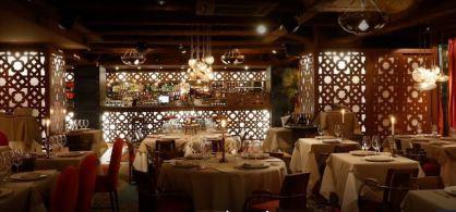celosias iluminadas para decoracion de restaurante