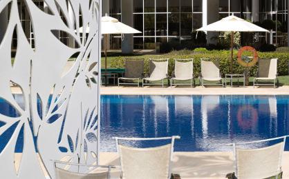 Celosia de pvc para decoracion en piscina