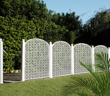 Celosia para valla jardin en pvc blanco