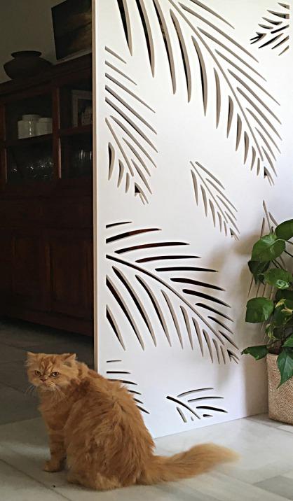 Panel de celosia decorativa fabricada en pvc
