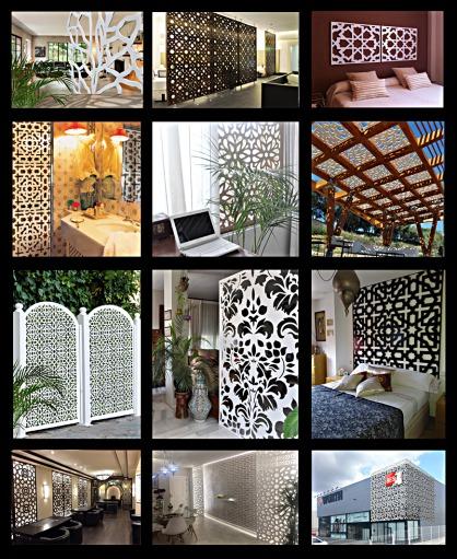 separadores de ambientes con paneles de celosias, decoracion moderna para separar ambientes