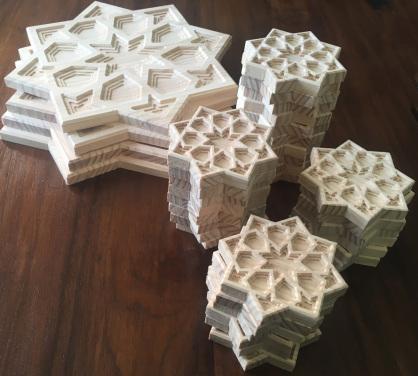 piezas talladas arabescas