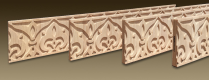 Cenefa Tallada de madera -  modelo CFN4