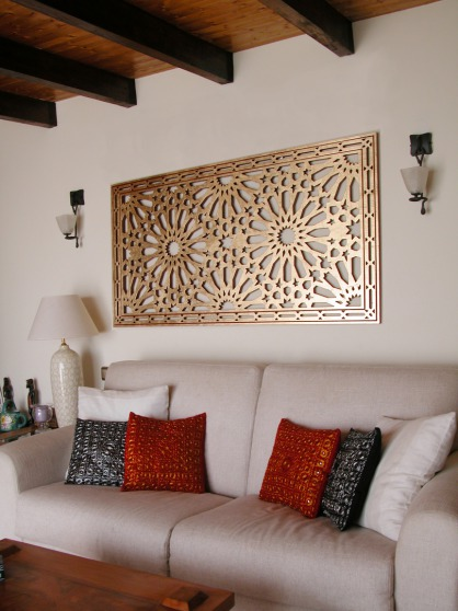 celosia decorativa de madera para interior