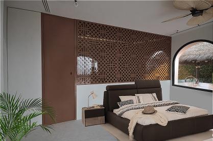 celosias de madera para separacion en vestidor