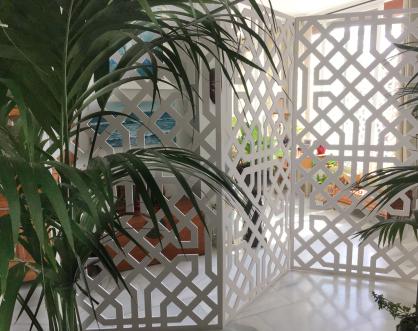 panel decorativo de celosia biombo separador de ambientes