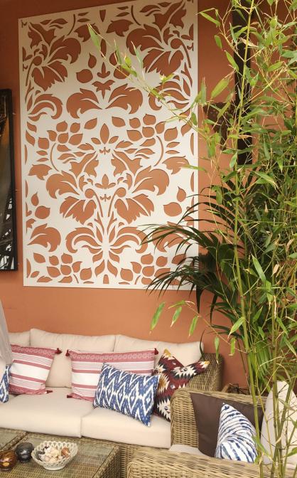 panel decorativo celosia para exterior