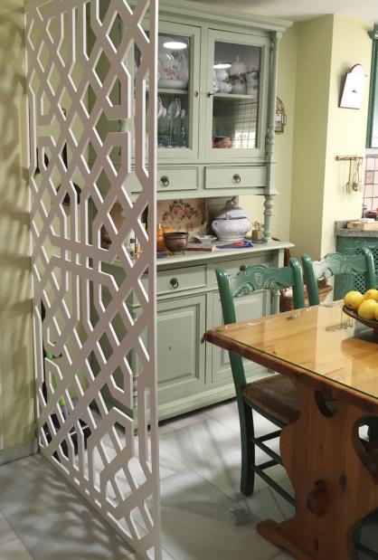 Separador de ambientes en cocina