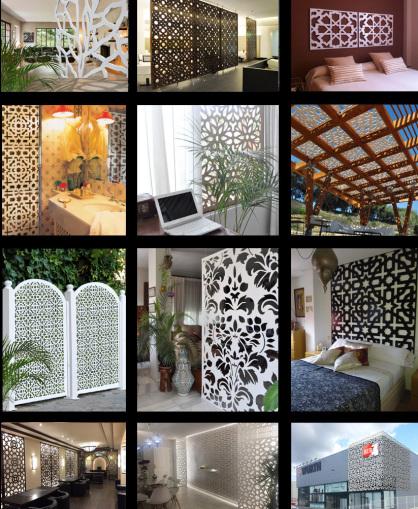 Celosias decorativas y separadores de ambientes