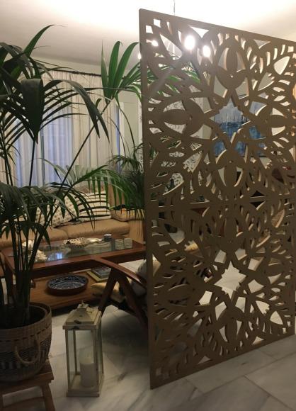 separadores ambientes  y paneles decorativos de celosias