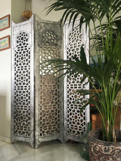biombos separadores ambientes  y paneles decorativos de celosias