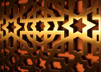 paneles decorativos con celosias metalicas