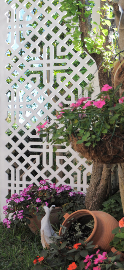 Paneles de  celosia para jardin fabricadas en pvc