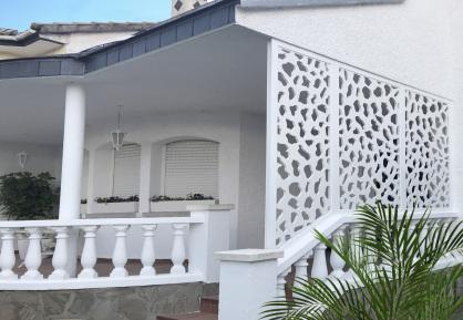 celosia para jardin y piscinas fabricadas en pvc