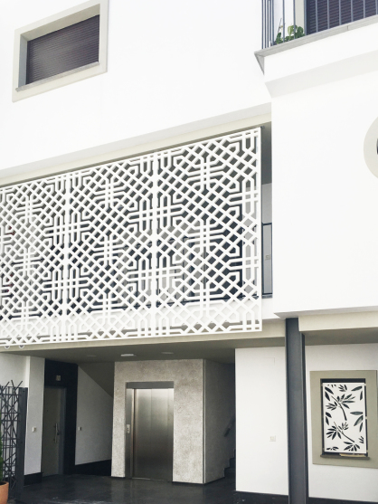 Celosias decorativas de exterior material pvc