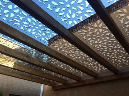 paneles decorativos con Celosias decorativas de exterior