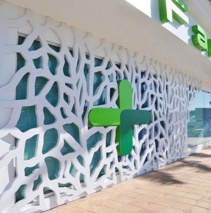fachada de Celosia para exterior