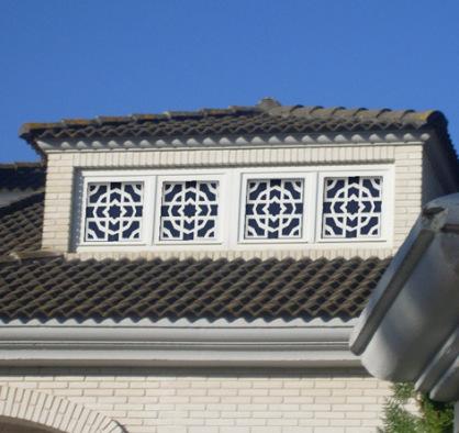 Ventanas de Celosia en aluminio para exterior