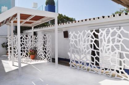 Celosias arquitectonicas para exterior hotel y restaurantes