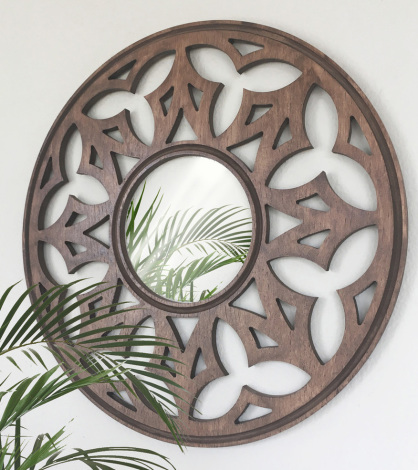 espejos con celosias de madera a medida