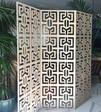 celosia decorativa biombo de madera