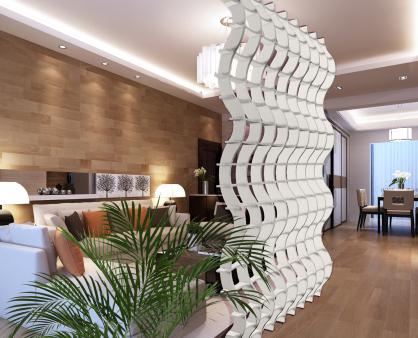 separacion ambientes con celosias arquitectonicas