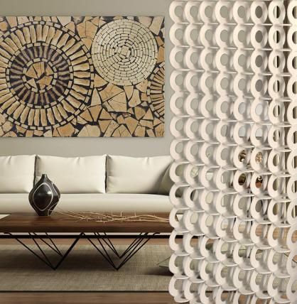 panel decorativo con celosia arquitectura